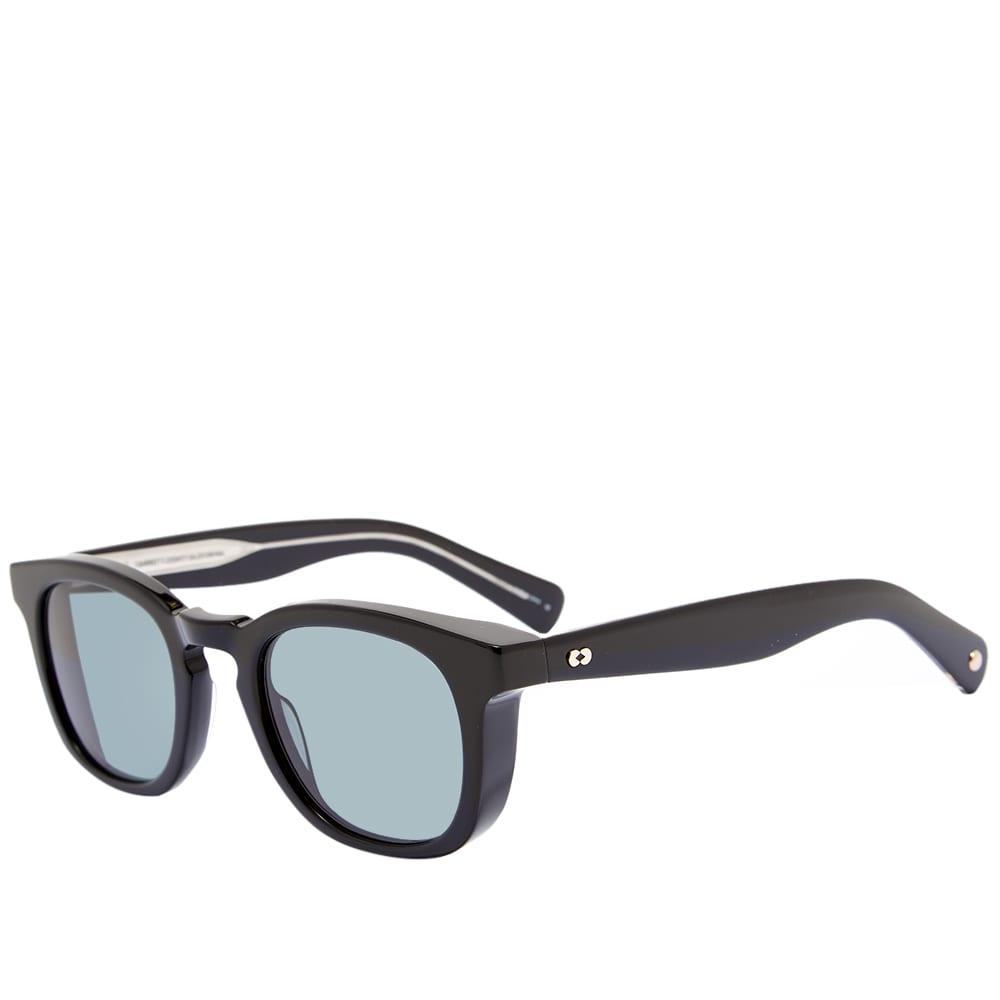 Garrett Leight Kinney 48 Sunglasses - Black & Valley View Green