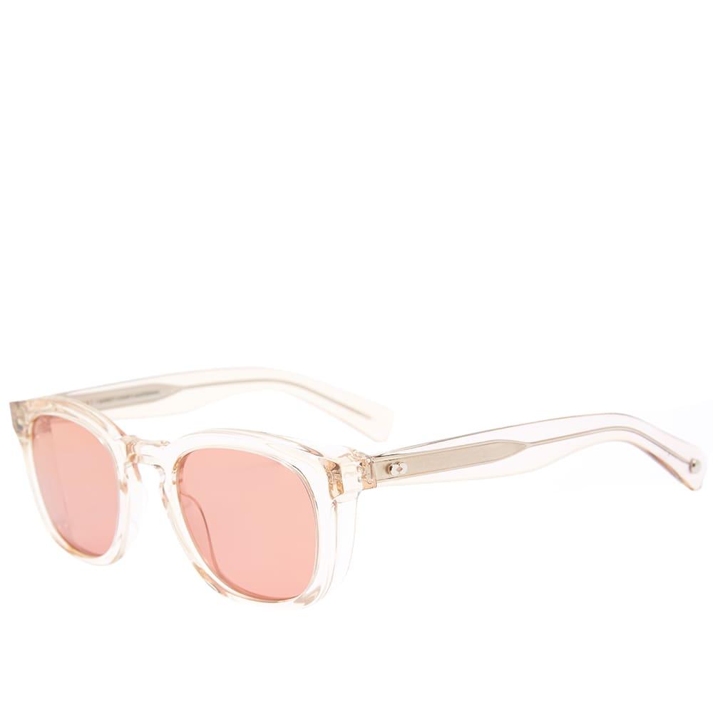 Garrett Leight Kinney 48 Sunglasses - Shell Crystal & Sweetwater