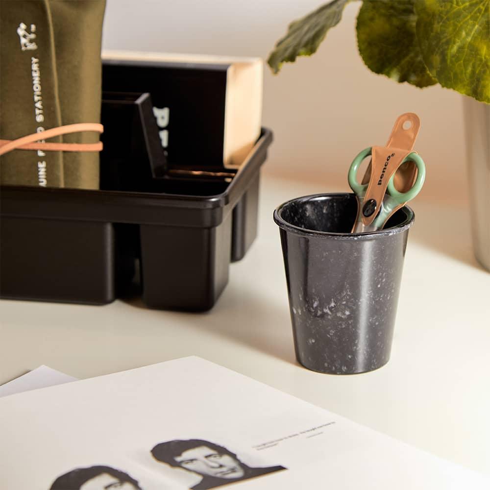 Hightide Marbled Pen Pot - Black