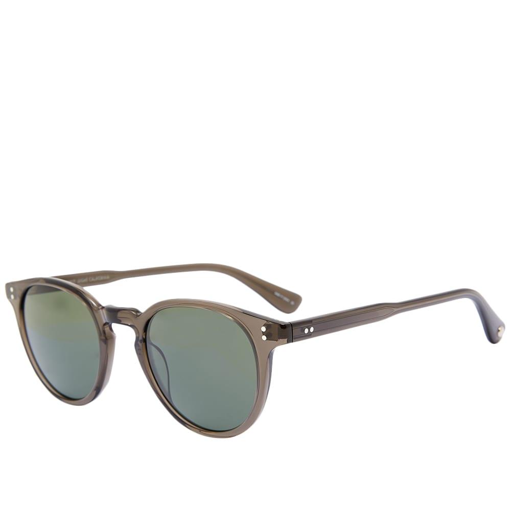 Garrett Leight Clement 46 Sunglasses - Black Glass & Pure G15