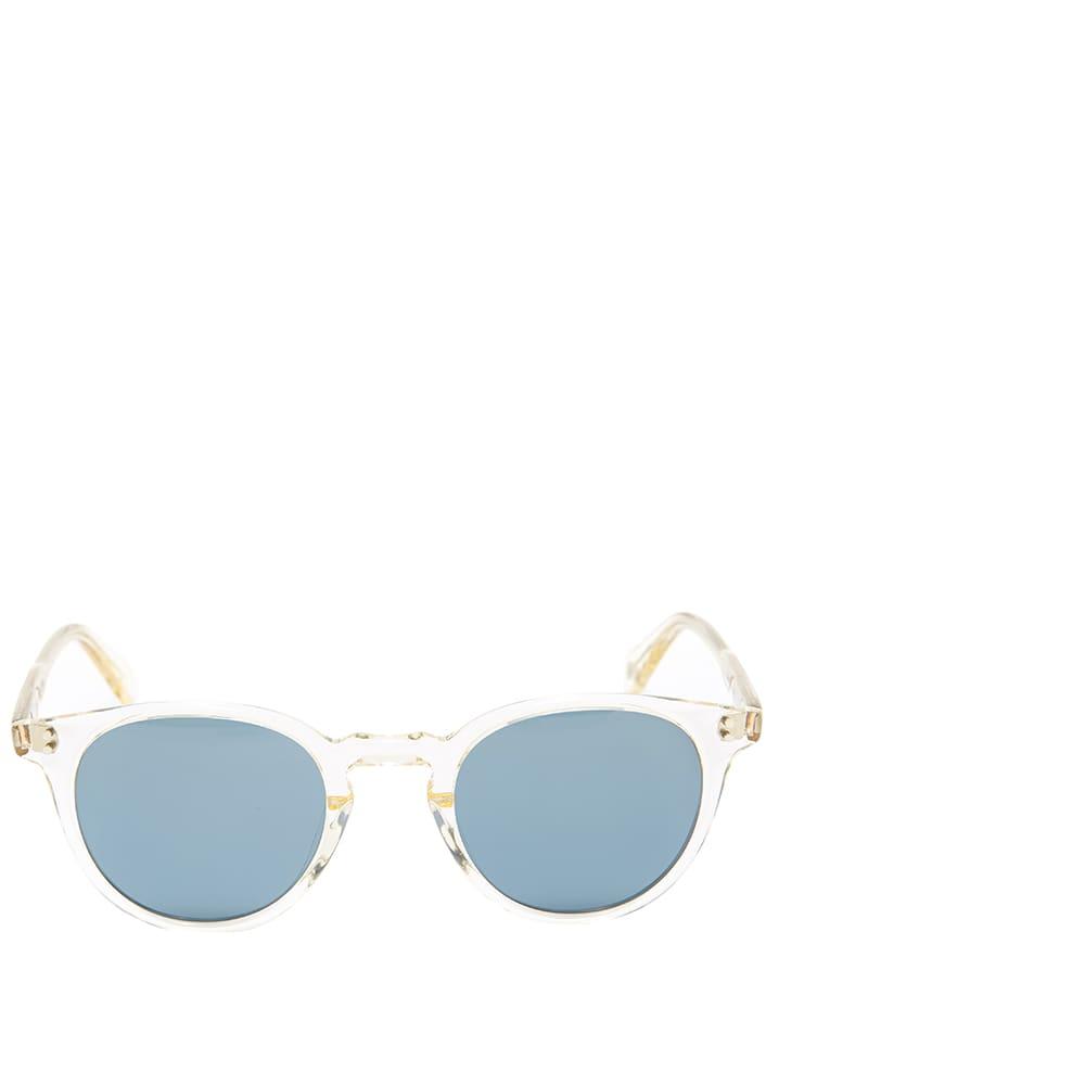 Garrett Leight Clement 46 Sunglasses - Pure Glass & Pure Bluesmoke