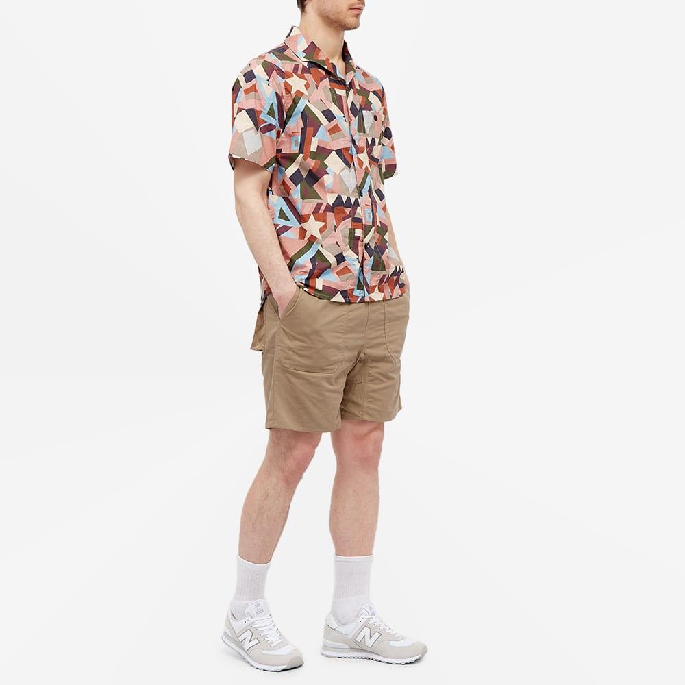 Albam Short Sleeve Miles Patchwork Printed Camp Collar Shirt - Pastel Aerial Print