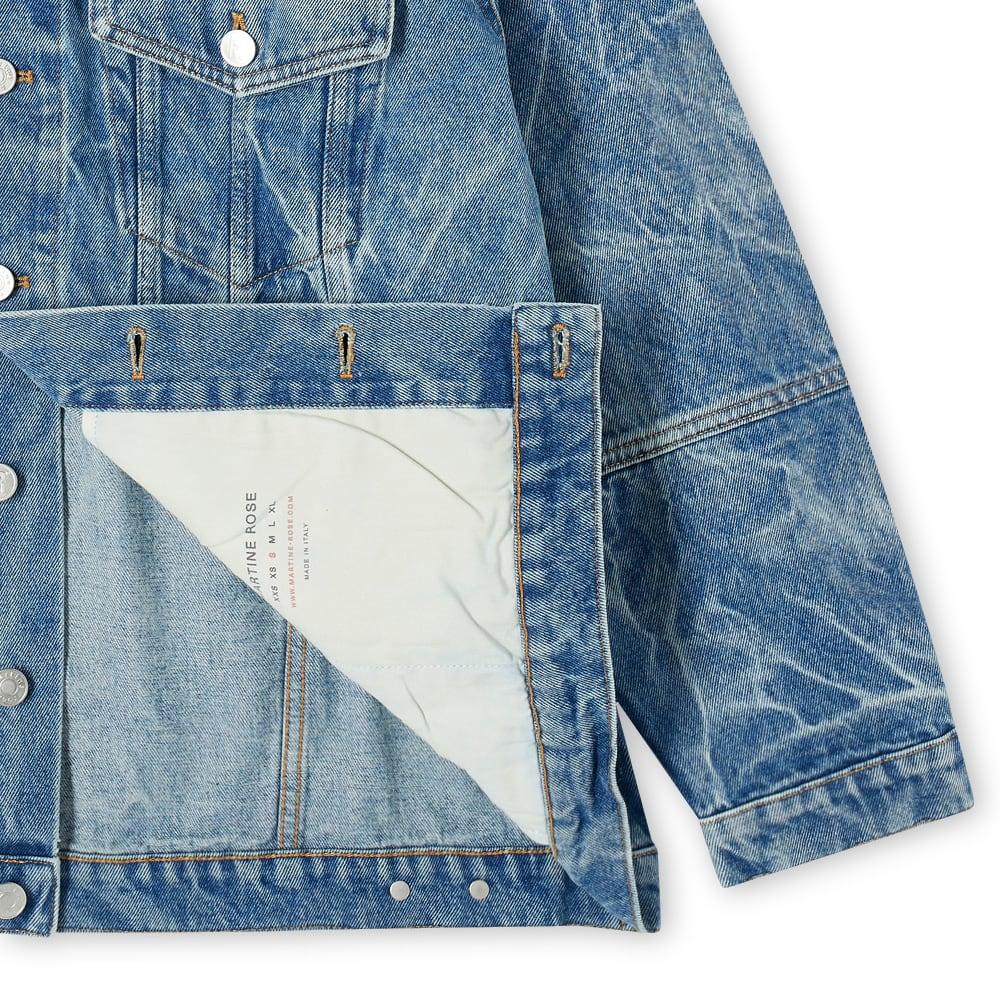 Martine Rose Oversize Acid Wash Denim Jacket - Acid Blue Denim