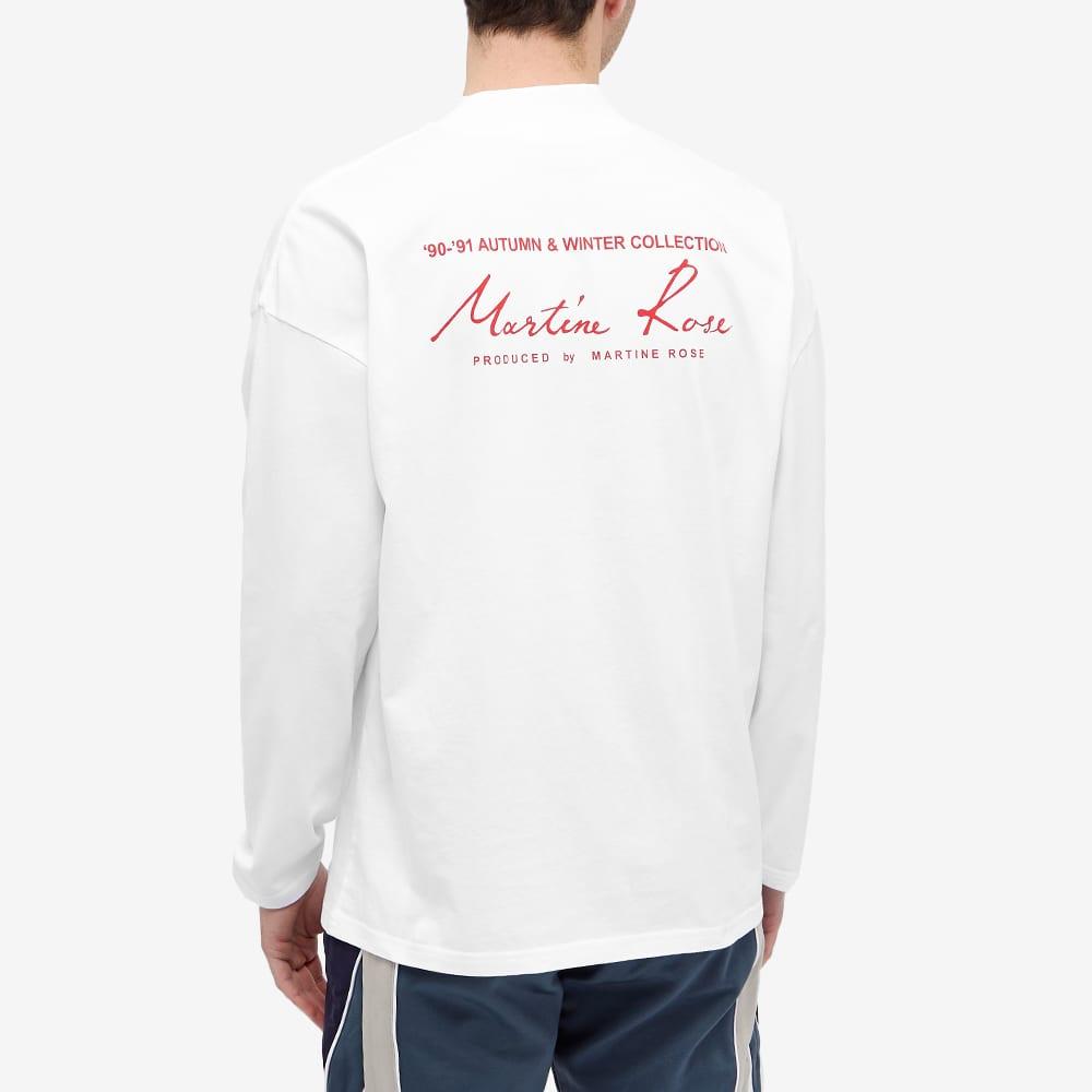 Martine Rose Long Sleeve Mock Neck Logo Tee - White