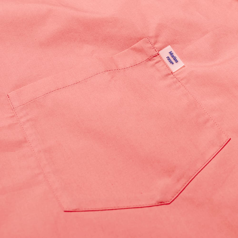 Martine Rose Short Sleeve Logo Tab Shirt - Pink