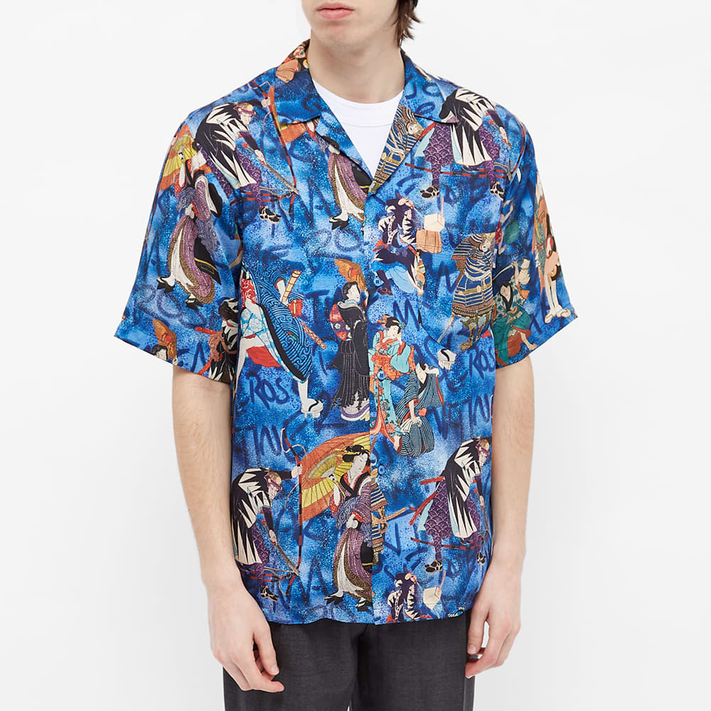 Martine Rose Vacation Shirt - Blue & Red