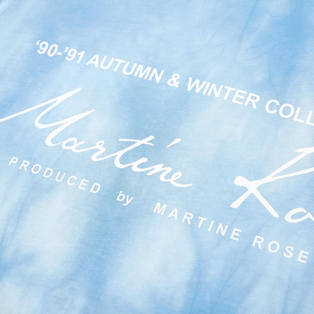 Martine Rose Tie Dye Classic Logo Tee - Light Blue
