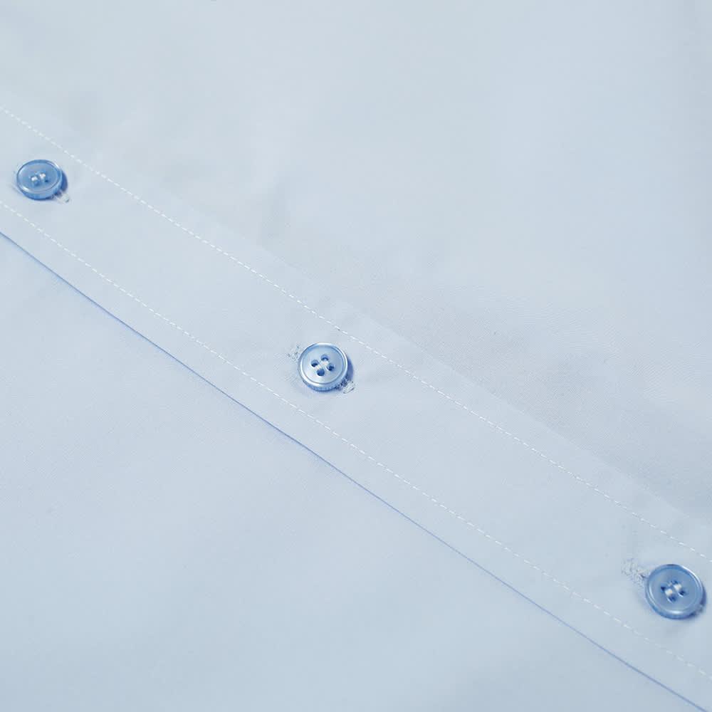 Martine Rose Short Sleeve Logo Tab Shirt - Light Blue