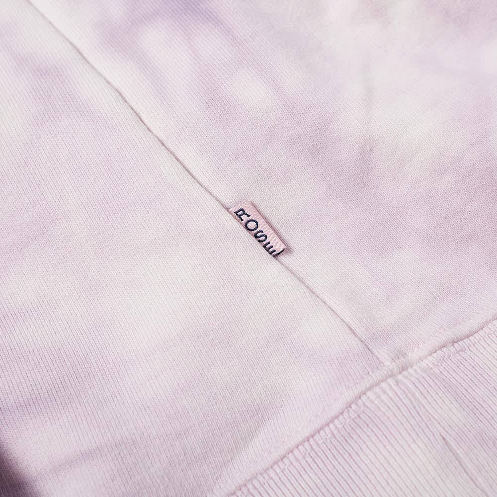 Martine Rose Back Logo Tie Dye Popover Hoody - Mauve