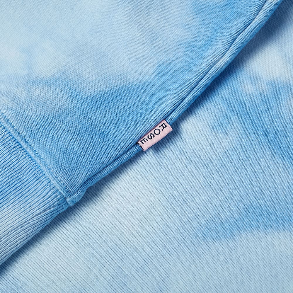 Martine Rose Tie Dye Logo Crew Sweat - Light Blue