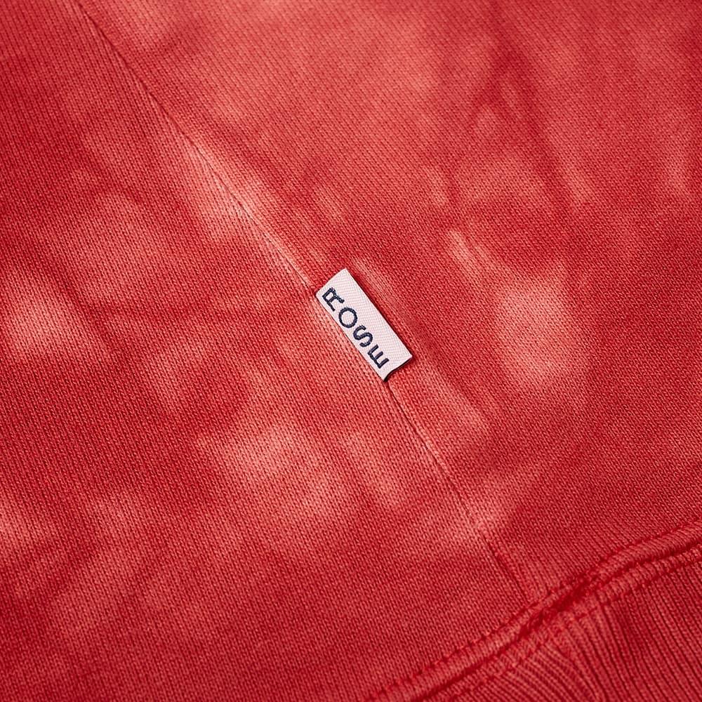 Martine Rose Back Logo Tie Dye Popover Hoody - Red