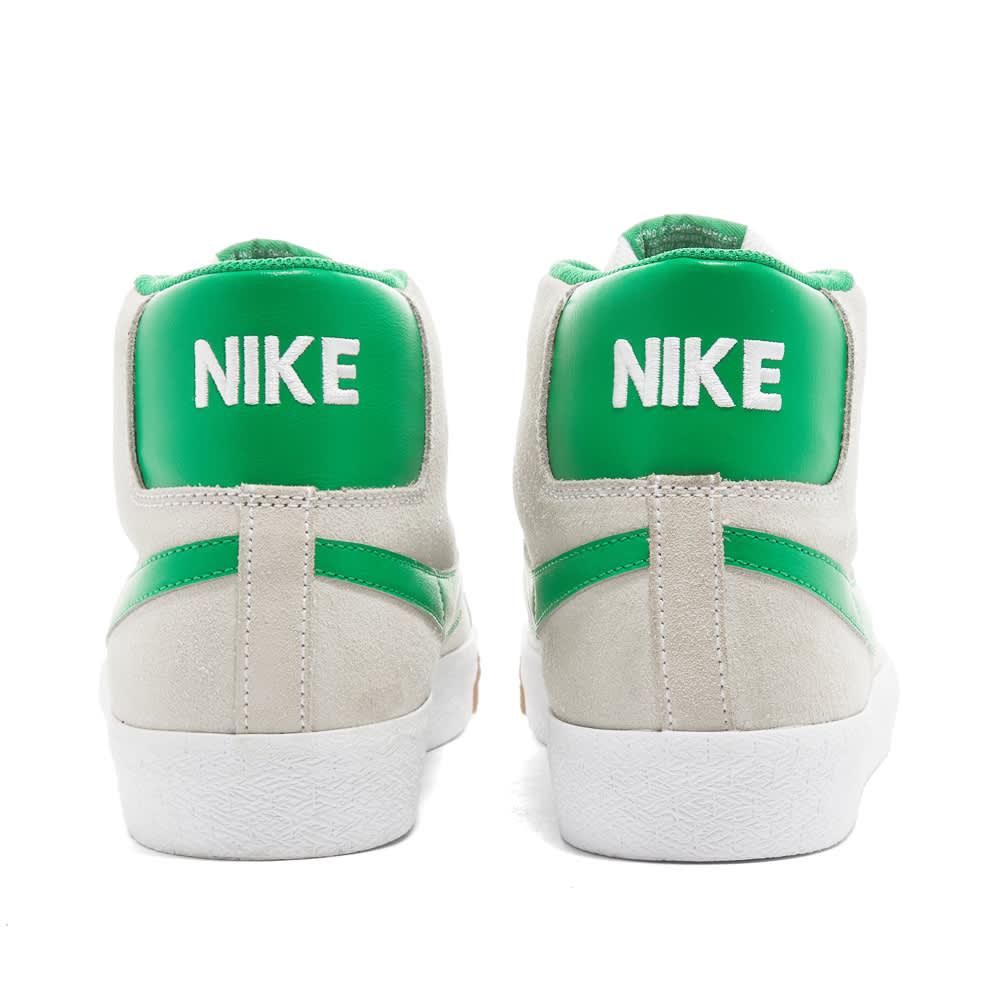 Nike SB Zoom Blazer Mid - White, Green & Coconut Milk
