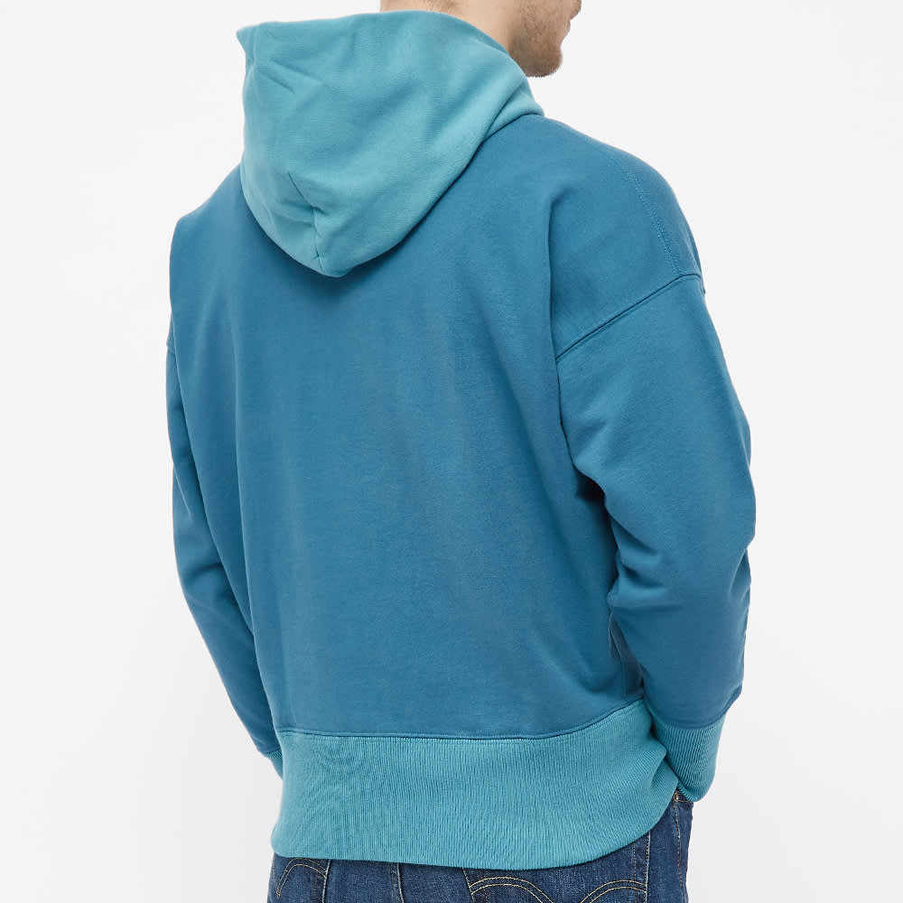 Levi's Vintage Clothing 1950s Tonal Panelled Popover Hoody - Blue