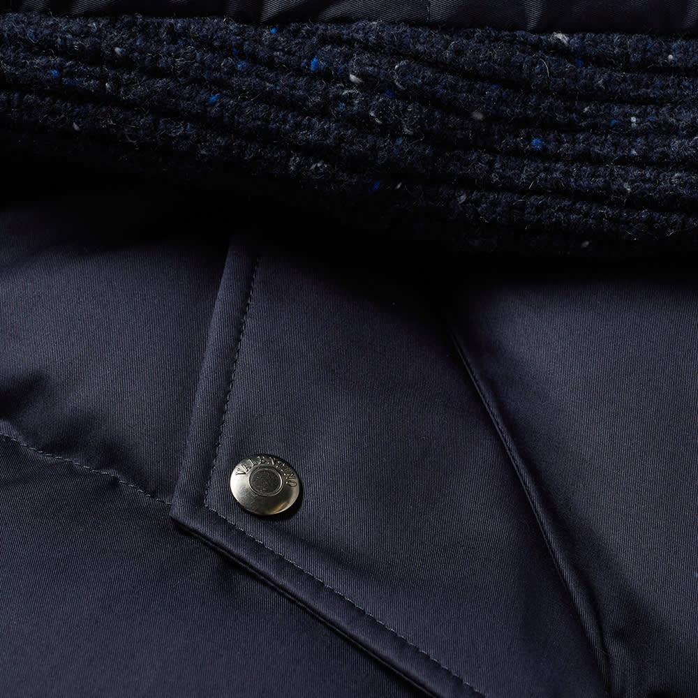 Valentino Patch Logo Down Jacket - Navy, Blue & Grey