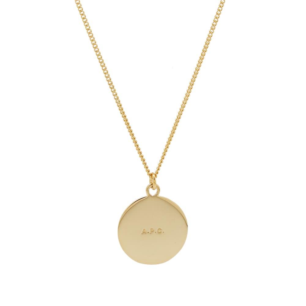 A.P.C. Stripe Pendant Necklace - Gold