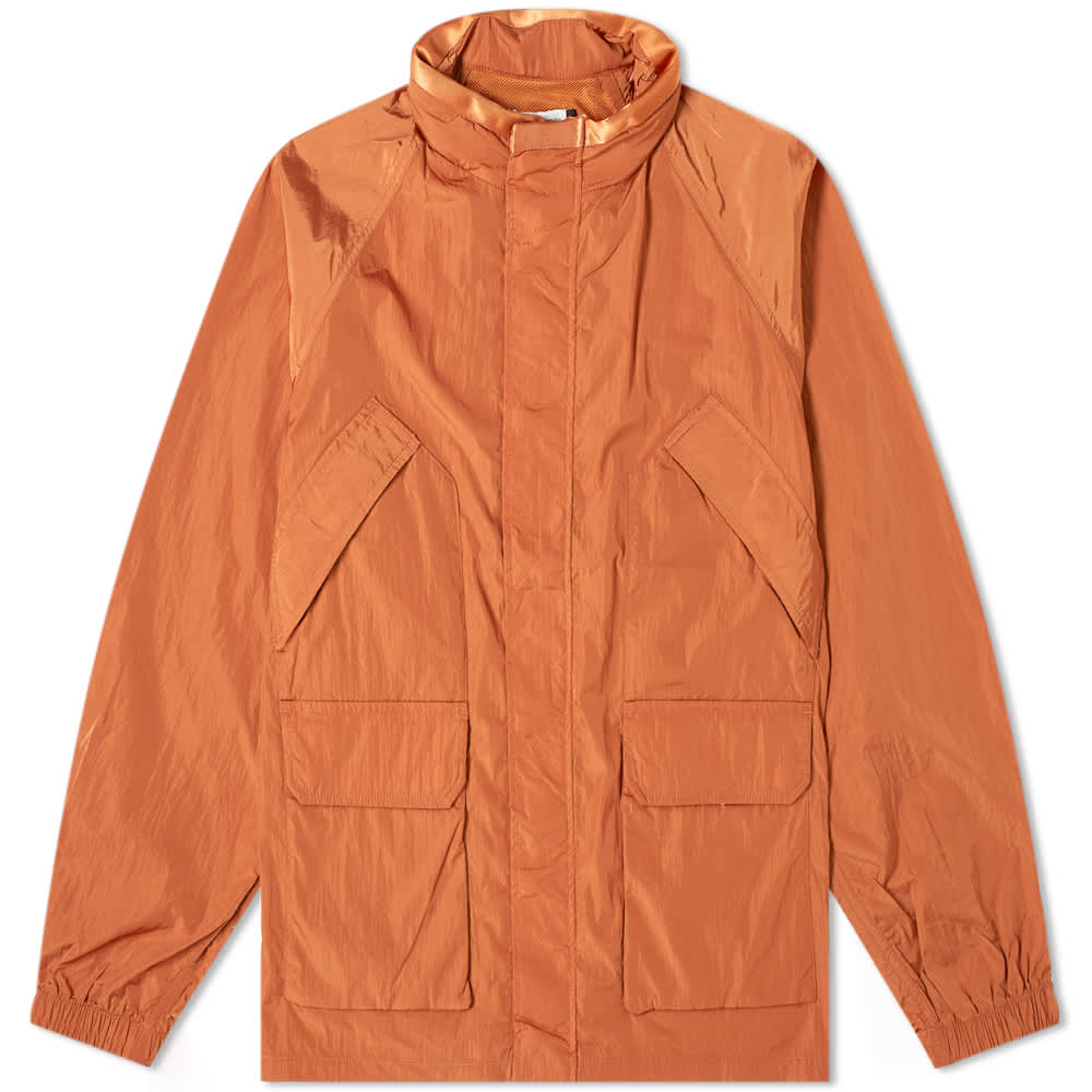 Pop Trading Company Venice Concealed Hood Jacket - Amber