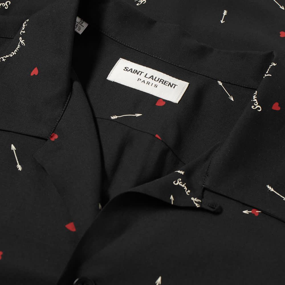 Saint Laurent Love Print Vacation Shirt - Black