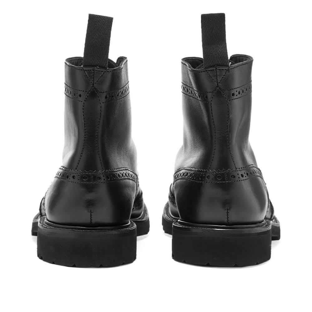 Trickers Stow Vi-Lite Brogue Boot - Black Olivvia Classic