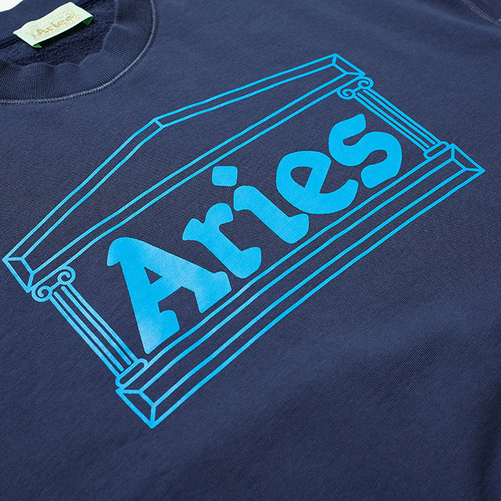 Aries Column Crew Sweat - Blue