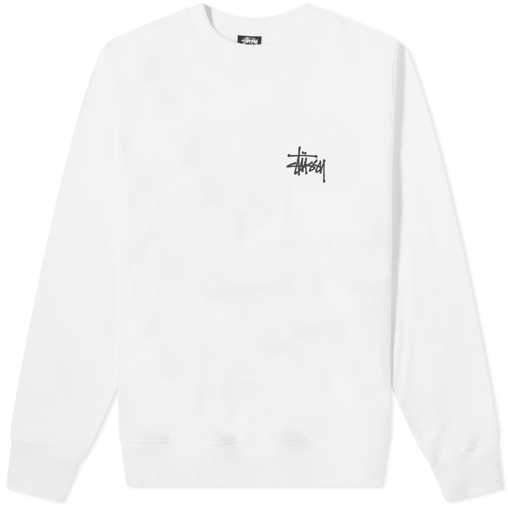 Stussy Basic Stussy Crew - White