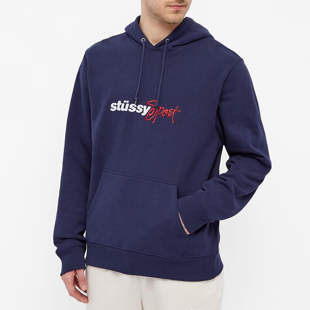 Stussy Sport Applique Hoody - Navy
