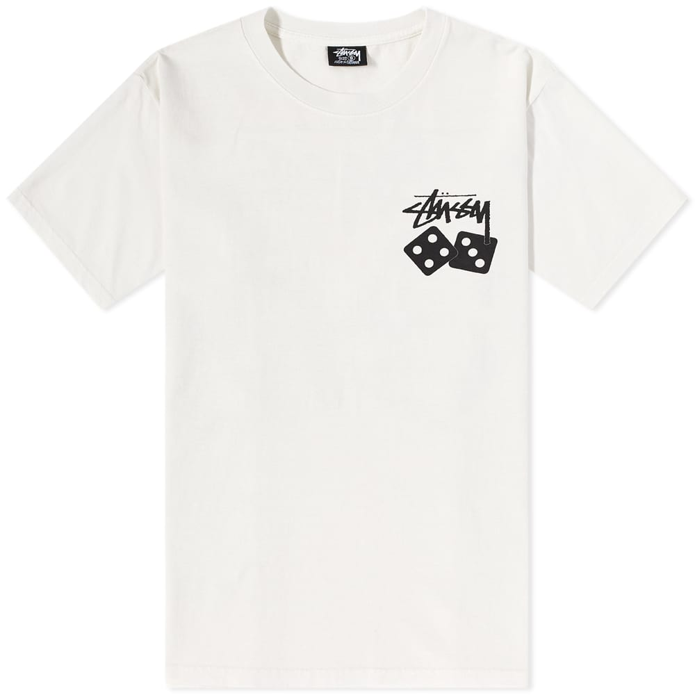 Stussy Dice Pigment Dyed Tee - Natural