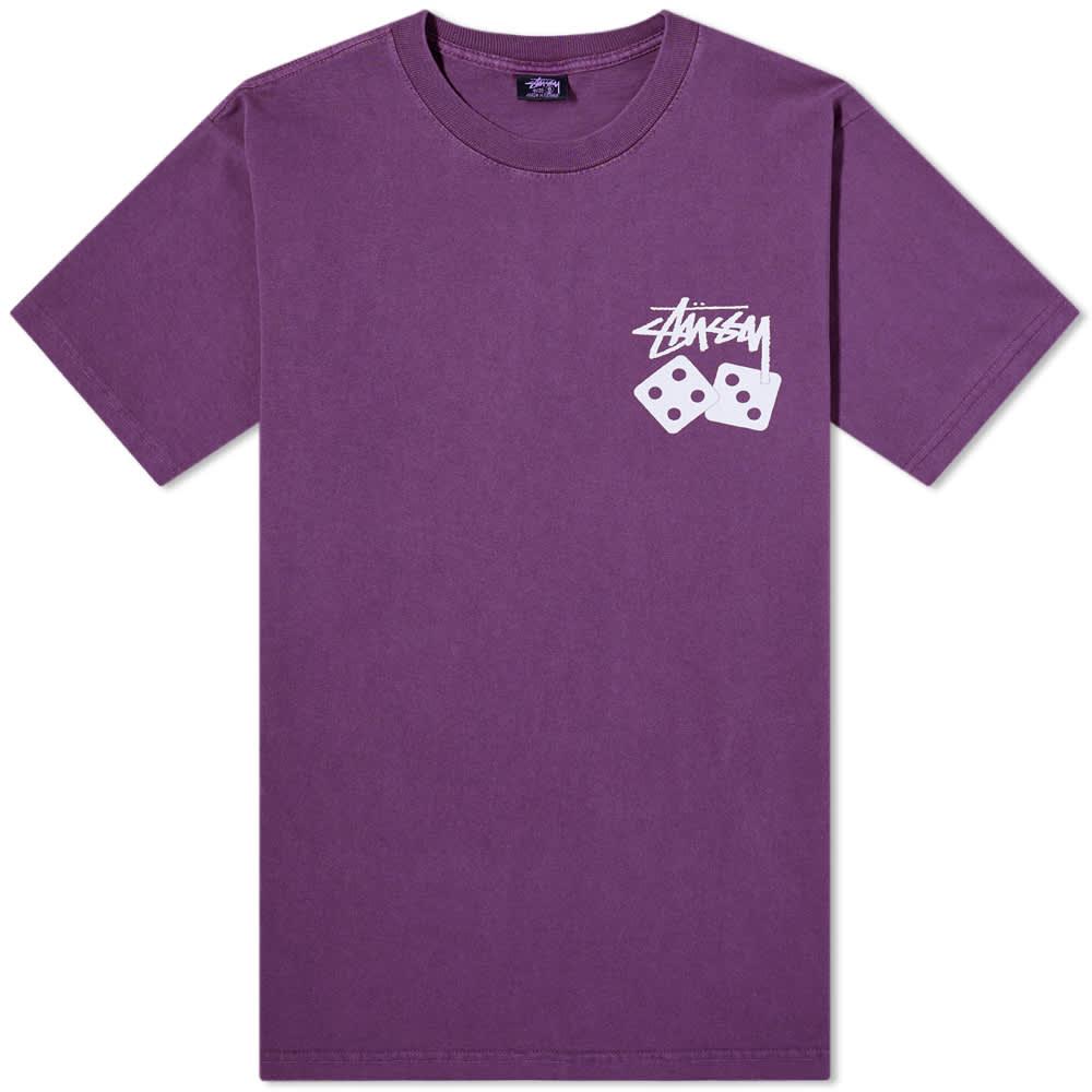 Stussy Dice Pigment Dyed Tee - Purple