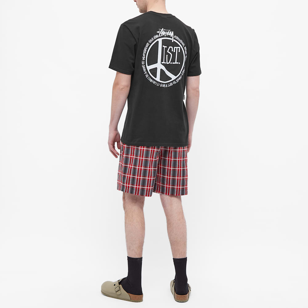 Stussy Peace Dot Pigment Dyed Tee - Black