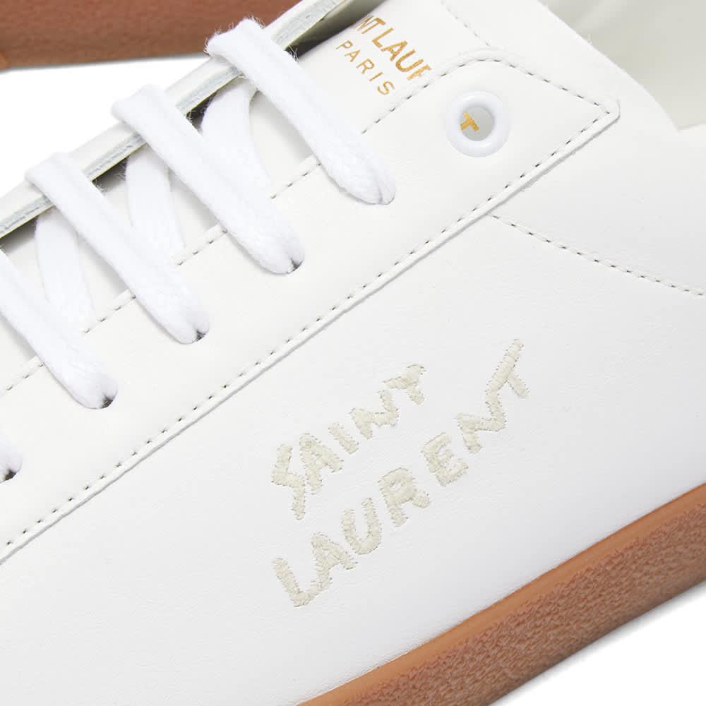 Saint Laurent SL-06 Court Leather Signature Sneaker - White