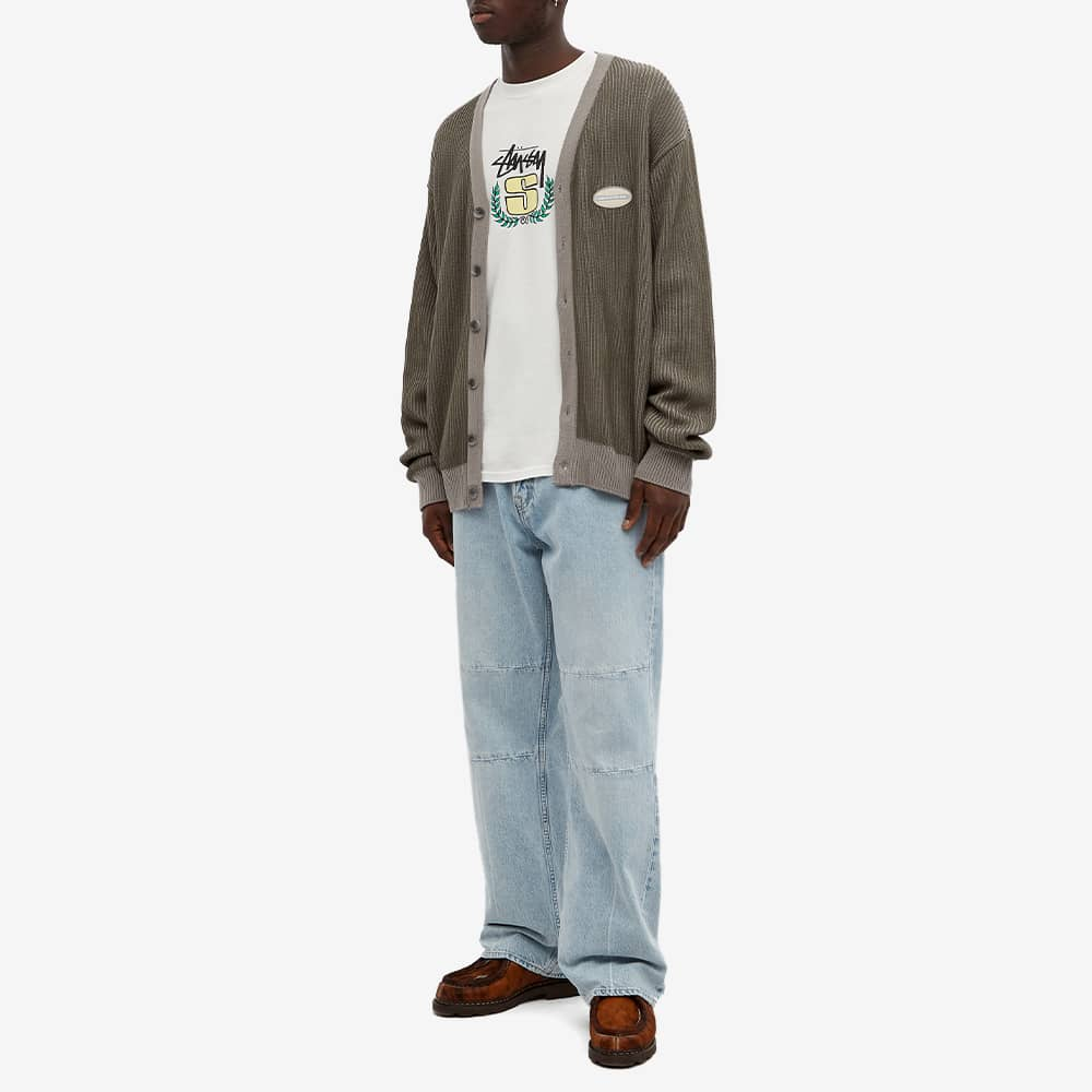 Stussy Long Sleeve S Wreath Pigment Dyed Tee - Natural