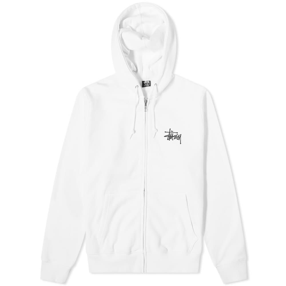 Stussy Basic Stussy Zip Hoody - White
