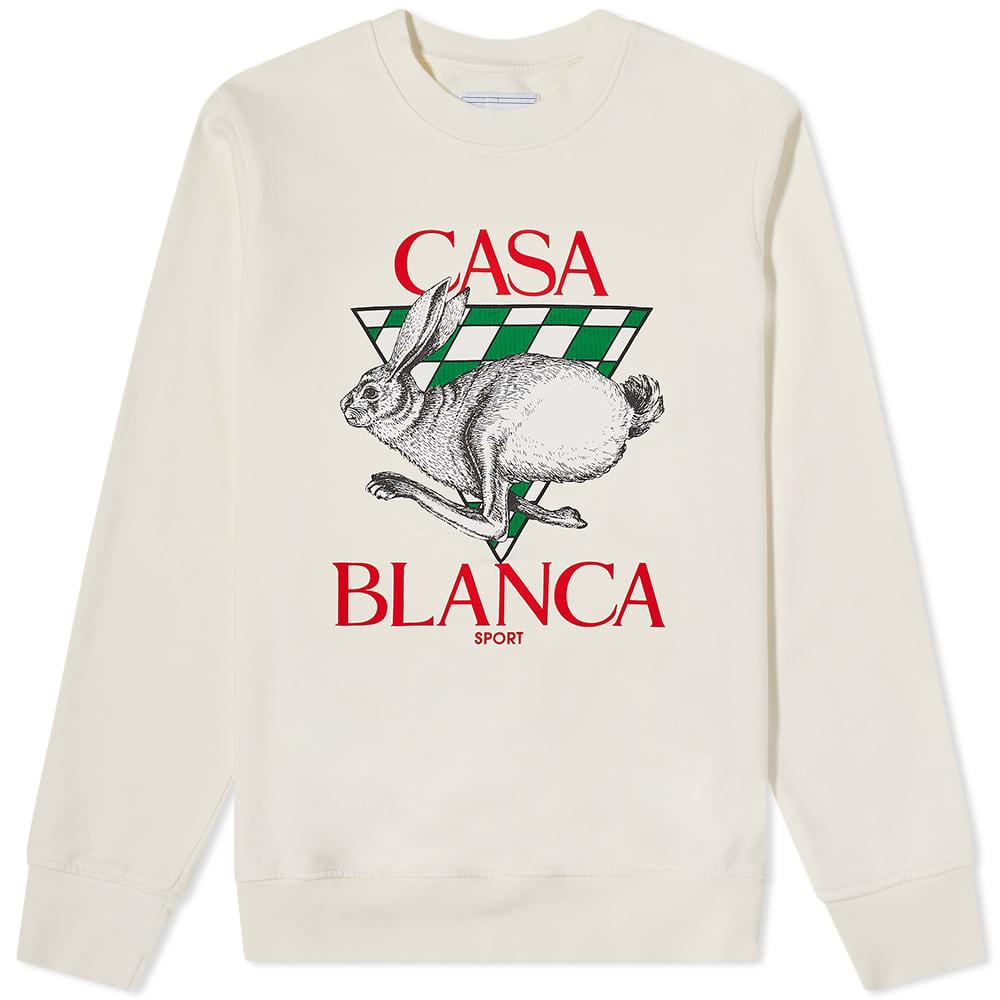 Casablanca Casa Sport Crew Sweat - Off White