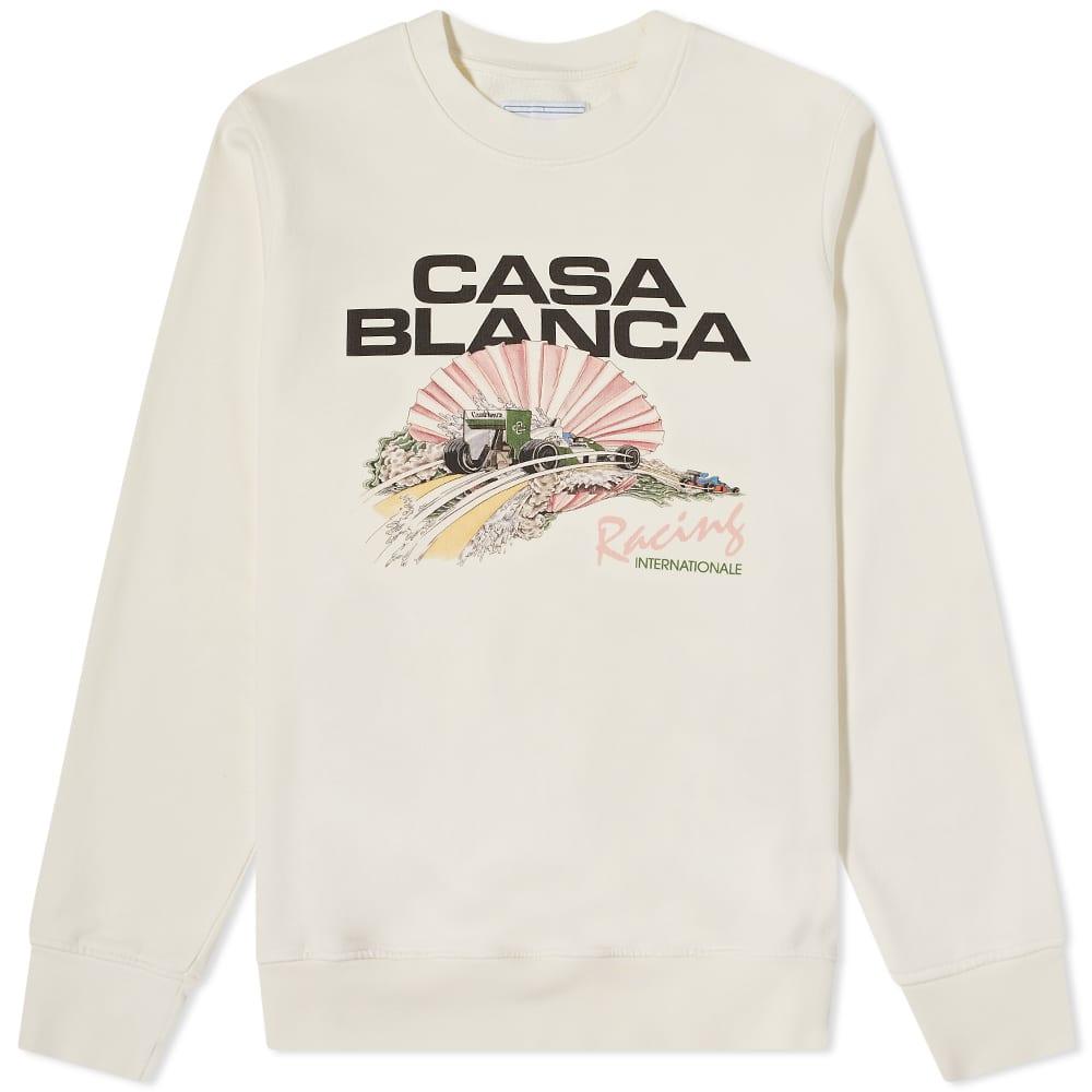 Casablanca Racing Shell Crew Sweat - Off White