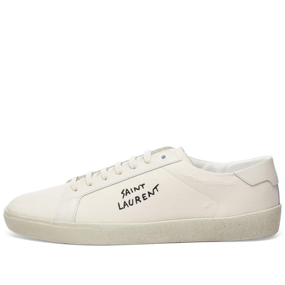 Saint Laurent SL-06 Court Signature Sneaker - Ecru