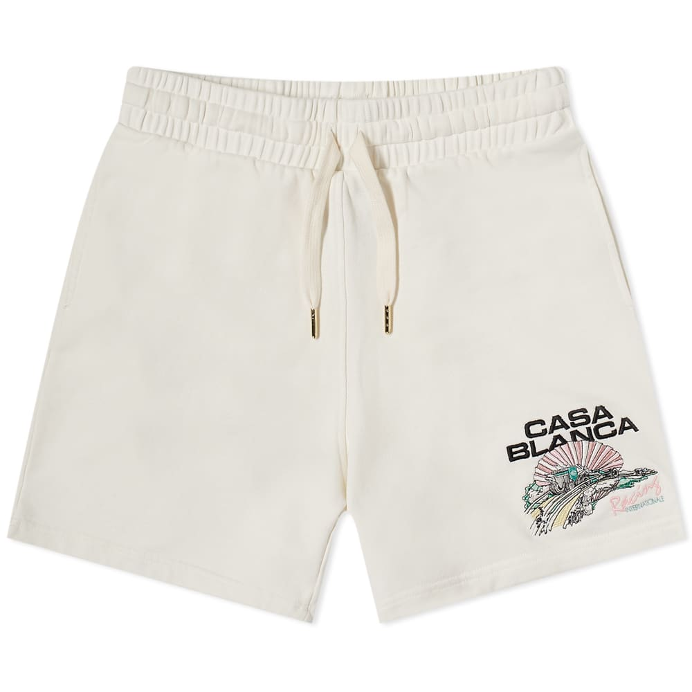 Casablanca Racing Shell Sweat Short - Off White