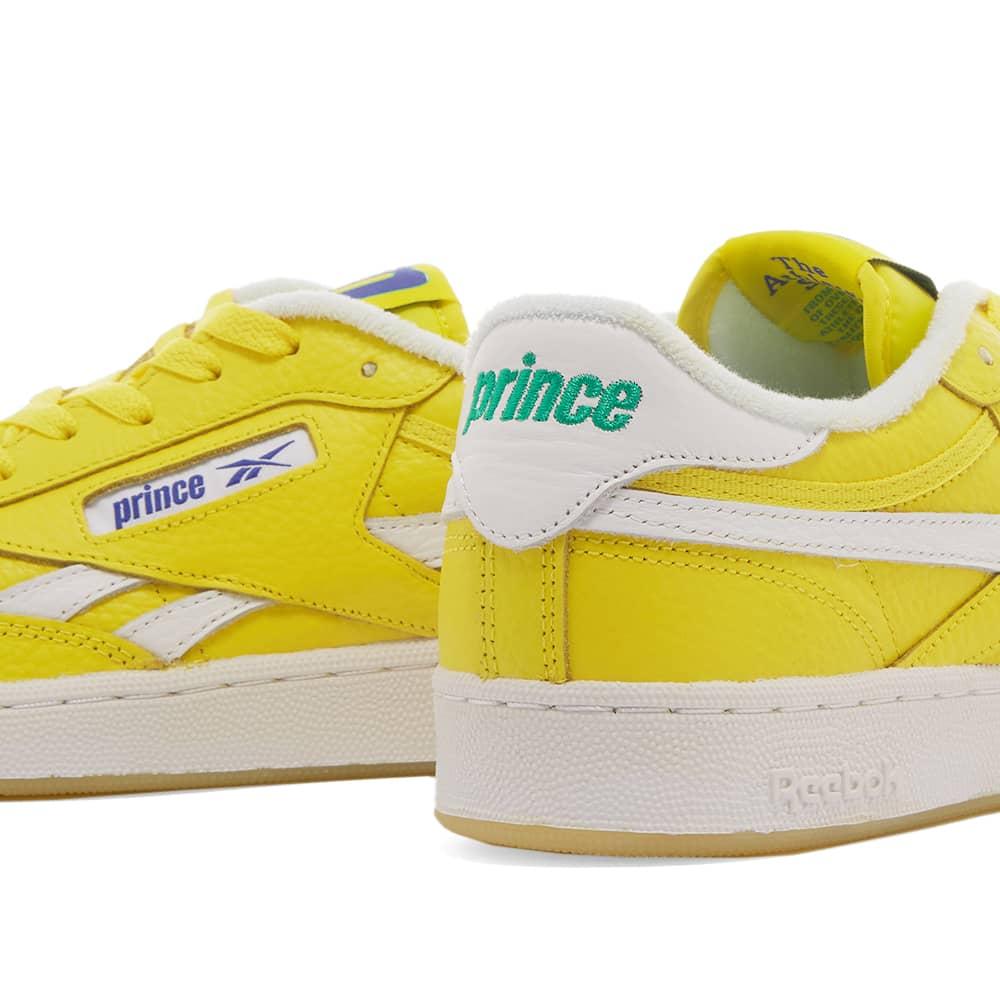 Reebok x Prince Club C Revenge - Yellow, White & Bright Cobalt