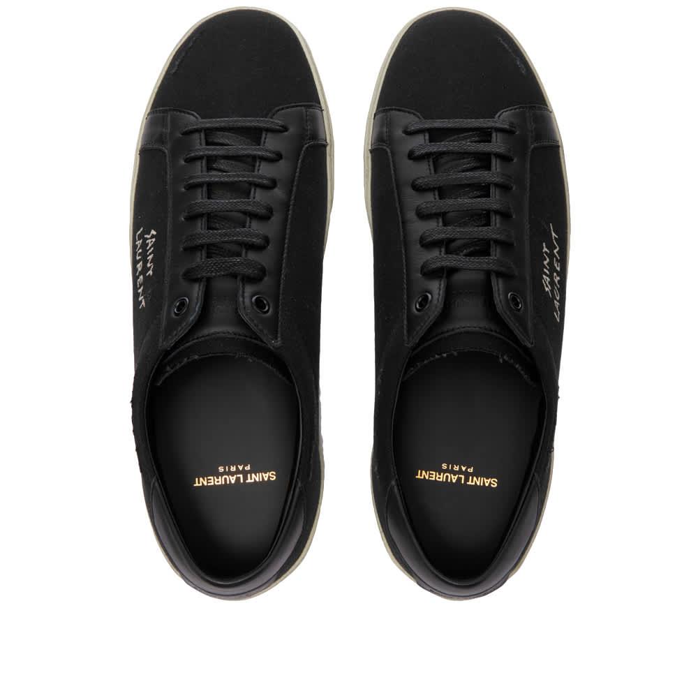 Saint Laurent SL-06 Court Leather Signature Sneaker - Black