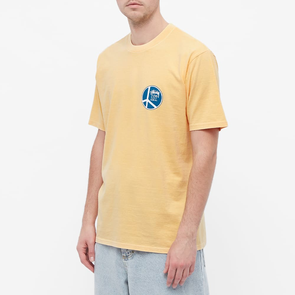 Stussy Peace Dot Pigment Dyed Tee - Peach