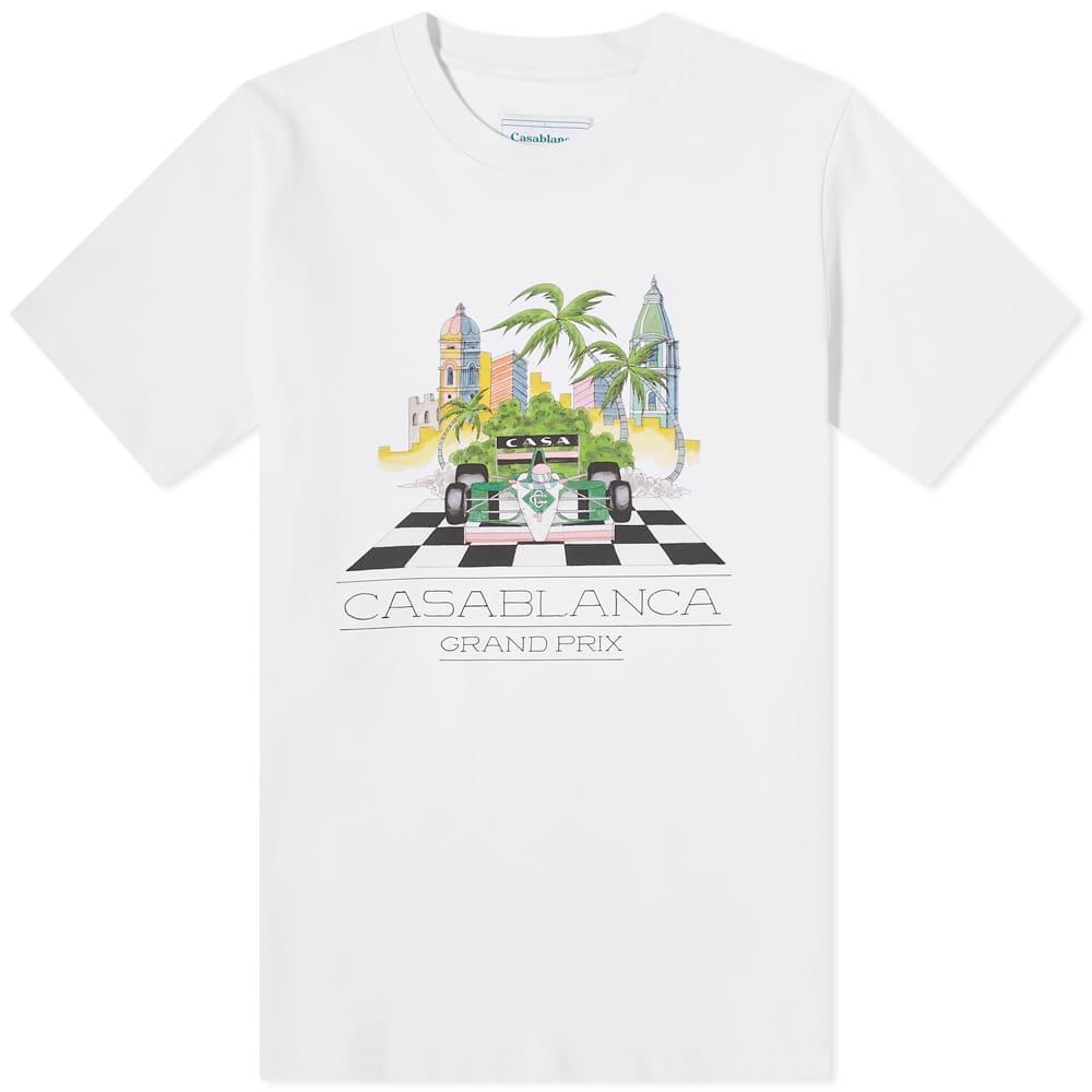Casablanca Finish Line Tee - White