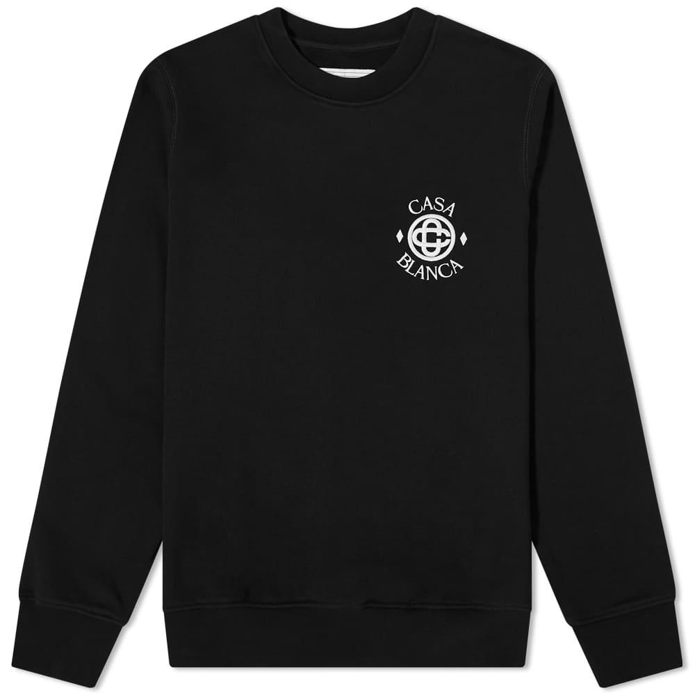 Casablanca Sport Logo Crew Sweat - Black