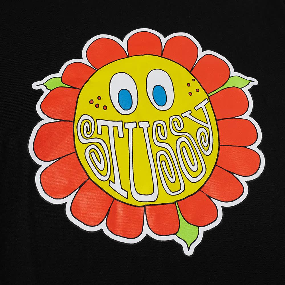 Stussy Happy Flower Tee - Black