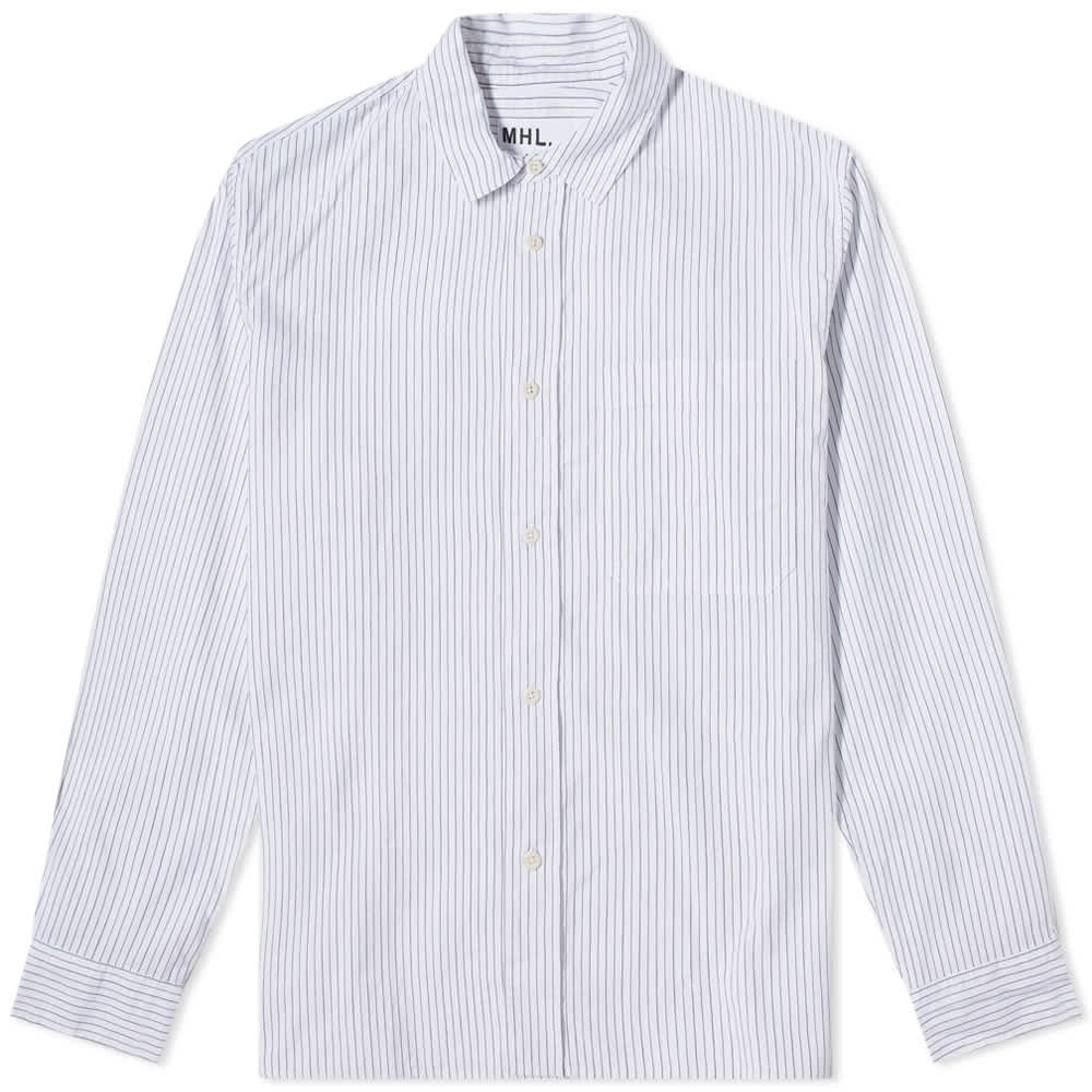 MHL By Margaret Howell Painters Shirt - White, Black & Rust