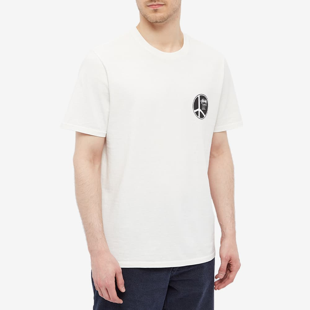 Stussy Peace Dot Pigment Dyed Tee - Natural