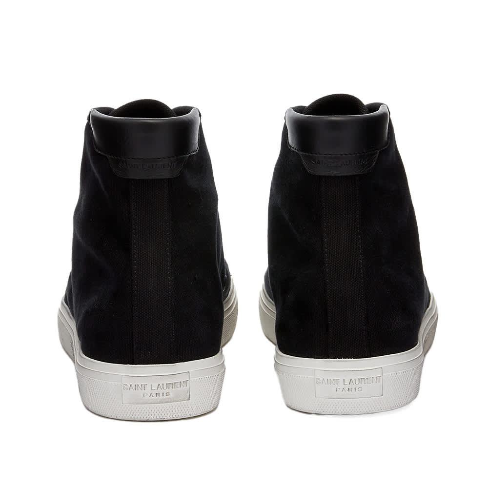 Saint Laurent Malibu Mid Signature Sneaker - Black
