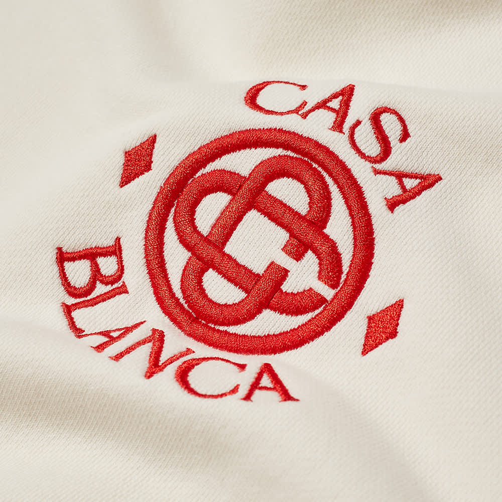 Casablanca Sport Logo Crew Sweat - Off White
