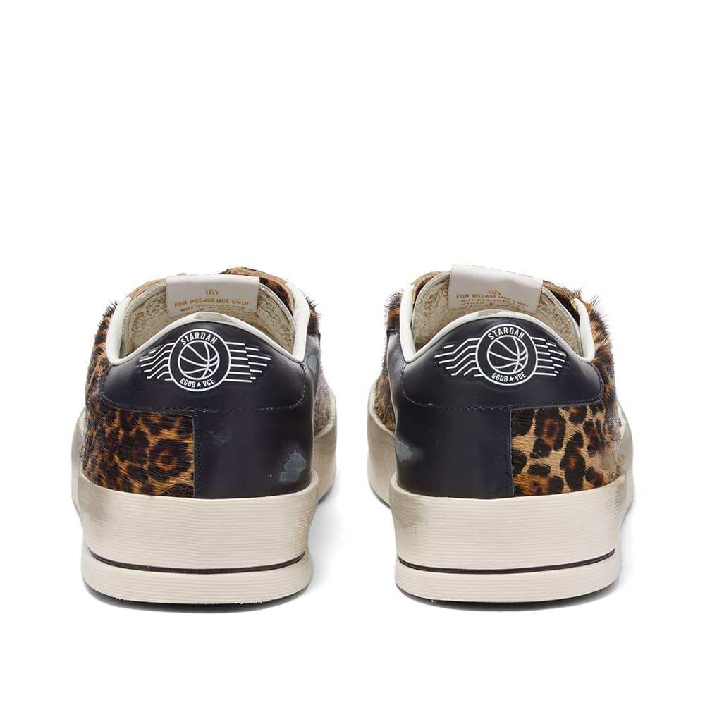 Golden Goose Stardan Leo Horsy Leather Sneaker - Beige, White & Black