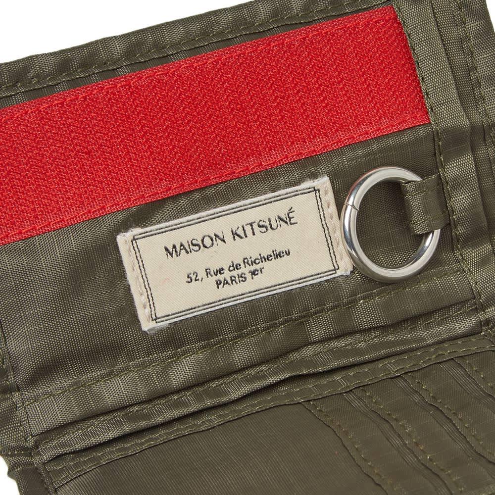 Maison Kitsuné Velcro Ripstop Wallet - Khaki