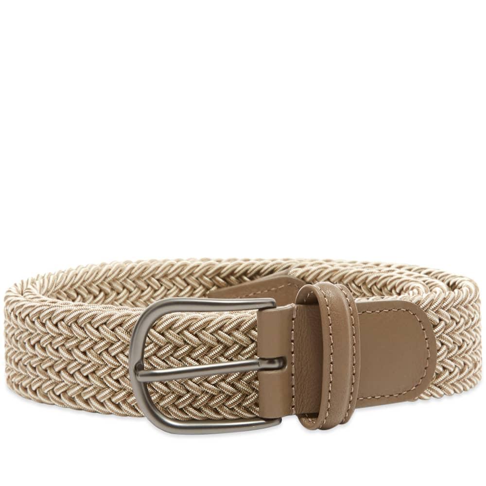 Anderson's Woven Textile Belt - Ecru & White