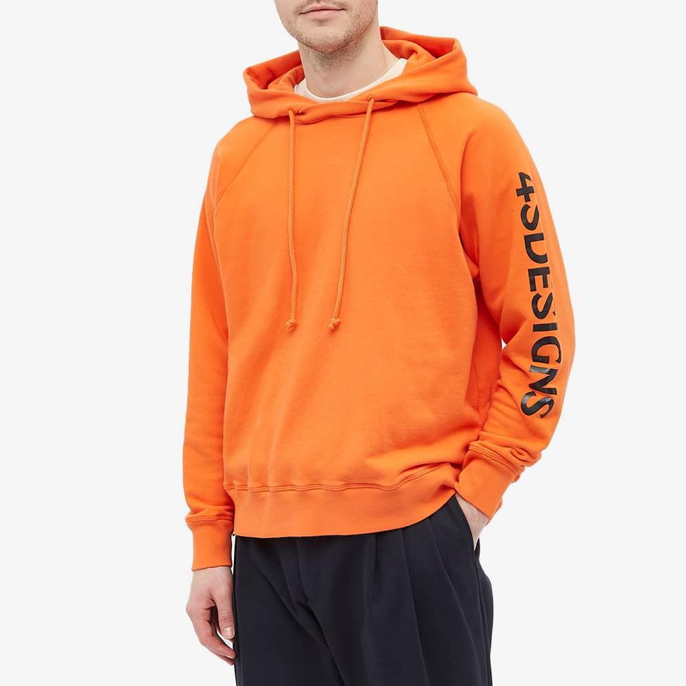 4SDESIGNS Printed Fleece Hoody - Orange