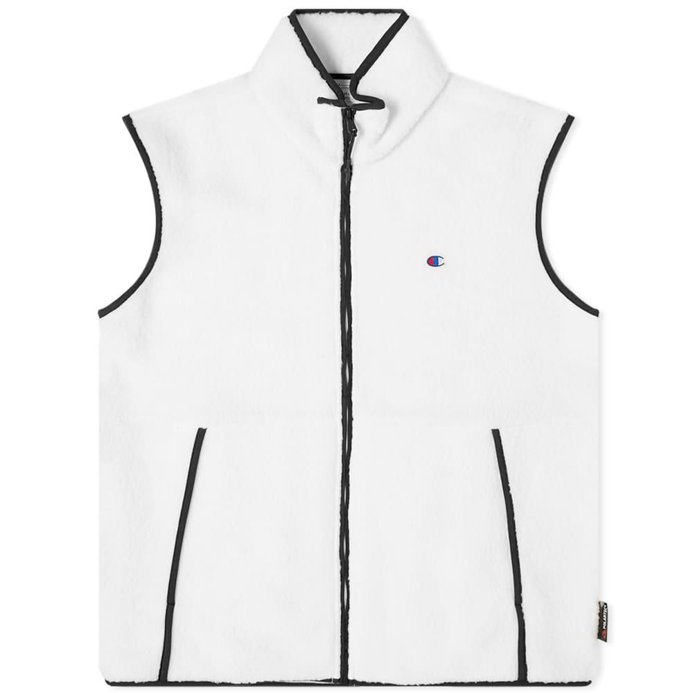 Champion Reverse Weave Fleece Vest - White